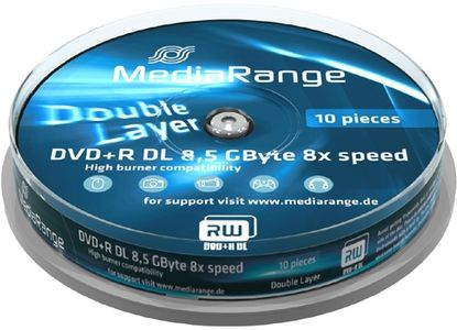 MediaRange DVD+R MediaRange 8.5GB  10pcs (MR466)