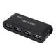 LOGILINK 4-Port m. PSU    black