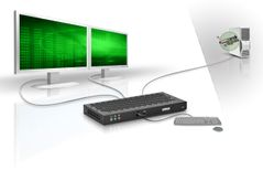 MATROX Extio F2208, Dual Output BoxXTO2-F2208F,  remote graphics unit, up to 400meters