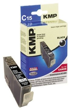 C15 ink cartridge black compatible with Canon BCI-6 BK