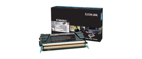 LEXMARK Black High Yield Toner Cartridge  (X746H2KG)