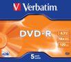 VERBATIM DVD-R 5-PACK  4,7GB 16X JC