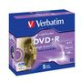 VERBATIM 16x DVD+R LightScribe 5-pack (Advanced AZO) Jewel Case
