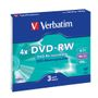 VERBATIM DVD-RW 4x Data, 3-pack