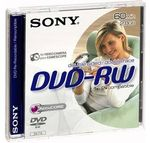 SONY 3X DVD-RW 8CM 2.8GB DOUBLE SIDED BLISTER IN