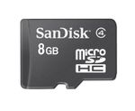 SANDISK Micro SDHC 8GB Card Only - qty 1
