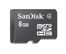 SANDISK microSDHC 8GB Card Only