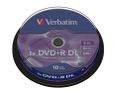 VERBATIM DVD+R 8,5GB Double Layer Branded Matt Silver 8xSpeed *10-pack* CakeBox