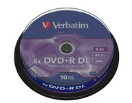 VERBATIM DVD+R DL 8X 10p spin spindle