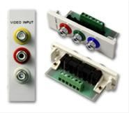 VISION TECHCONNECT V2 MODULE 3-PHONO This 3-phono module has red, white, and yellow coloured rings around the three connectors. Also comes with a green and blue ring for use as Component video module. Also k (TC2 3PHO)