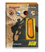 TRANSCEND 8GB JetFlash V70 (Rubber) Orange (Alt. TS8GJFV70)