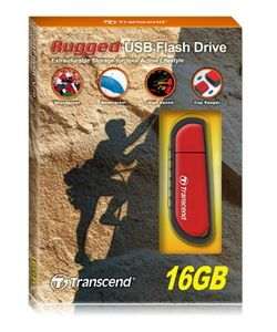 TRANSCEND 16GB JetFlash V70 (Rubber) Red (Alt. TS16GJFV70) (TS16GJFV70)