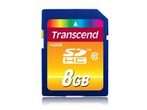 TRANSCEND 8GB SDHC(SD 3.0) High Speed Class 10 (Alt. TS8GSDHC10)