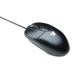 STANDARD MOUSE USB OPTICAL 3 BUTTON WHEEL USB BLK/SIL IN