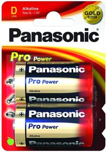 PANASONIC Alkaline Pro Power LR20PPG - Battery 2 x (LR20PPG/2BP)