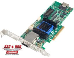 RAID 6445 SGL/512 SATA/SAS 4 INT 4 EXT PORT EN