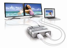DualHead2Go Digital ME (MAC) from mini-DisplayPort or Thunderbolt to 2xDVI, up to 1x3840x1200 (2x1920x1200)