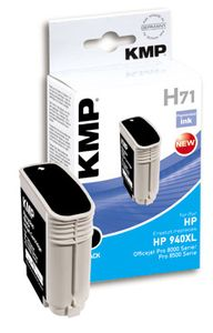 KMP H71 ink cartridge black compatible with HP C 4906 AE (1715,4001)