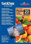 BROTHER BP71GP20 photo paper A6 20BL 190g/qm for MFC-6490CW DCP-375CW 6890CDW (BP71GP20)