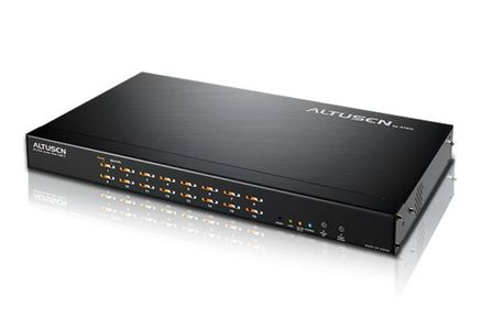 ATEN 16PORT 1USER PS2 VGA KVM ON THE NET 1U RM REMOTE ACCESS OSD         (KN9116)