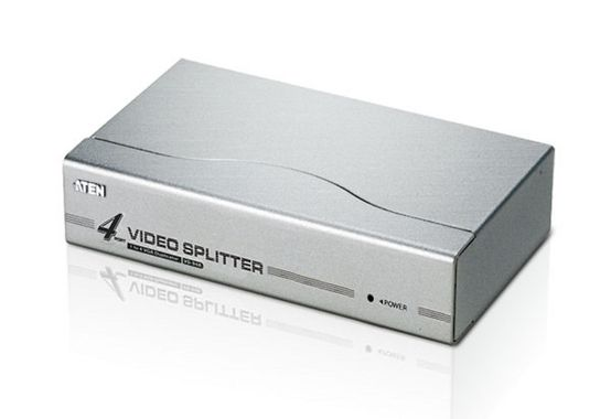 4PORT VIDEO SPLITTER WITH SUPPORT UP TO 1280 X 1024