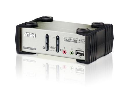 ATEN 2 port USB KVM (Five In One) (CS1732B-AT-G)