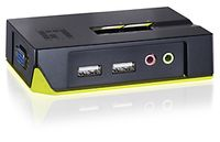 KVM switch USB 2 port m. audio