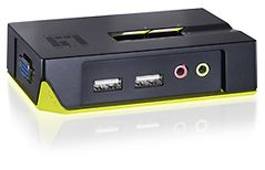 LEVELONE KVM switch USB 2 port m. audio