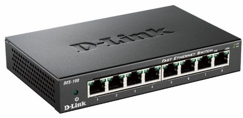 D-LINK Switch/ 8xF+ ENet RJ45 ext PSU (DES-108/E)