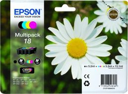 EPSON Ink Cart/ Black+Cyan+Magenta+Yellow RF+AM (C13T18064020)