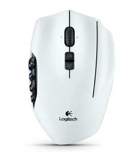 LOGITECH G600 MMO Gaming Mouse White (910-002873)
