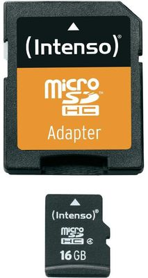 SD MicroSD Card 16GB inkl. SD Adapter