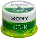 SONY CD-R/ 700MB 80Min 48xspd spindle 50pk