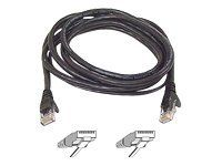 CAT 5 PATCH CABLE ASSEMBLED BLACK 15M NS