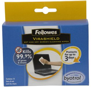 FELLOWES Wet and Dry Screen Cleaning Wipes (2211801)