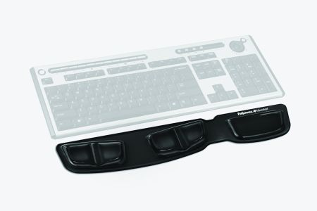 FELLOWES Keyboard palm support Fellowes Health-V Crystals black (9183201)