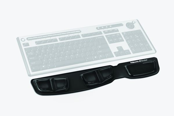 Keyboard palm support Fellowes Health-V Crystals black