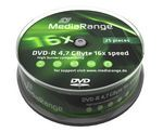 DVD-R MediaRange 4.7GB  25pcs