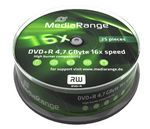DVD+R MediaRange 4.7GB  25pcs