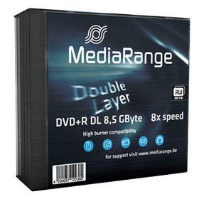 MediaRange DVD+DL 8x SC 8,5GB MediaR 5St (MR465)
