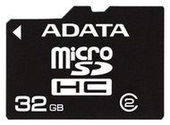 A-DATA SD MicroSd Card 32GB ADATA SDHC (Class 4) retail (AUSDH32GCL4-R)