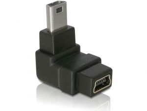 DELOCK Kabel Adapter USB mini-B St.>USB mini-B Bu. (65097)