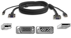 BELKIN OMNIVIEW PRO2 AIO KVM CABLE USB 3M