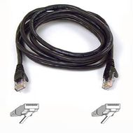 SNAGLESS CAT6 PATCH CABLE 4PRRJ45M/ M 50CM BLACK NS