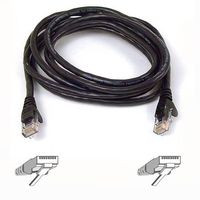 SNAGLESS CAT6 PATCH CABLE 4PRRJ45M/ M 3MS BLACK NS