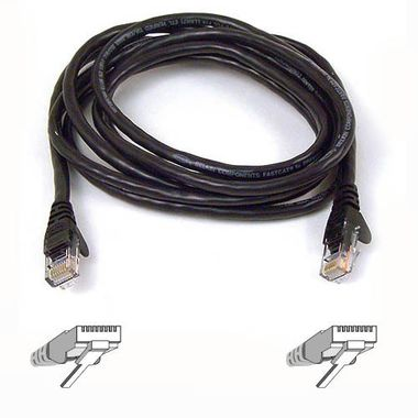 SNAGLESS CAT6 PATCH CABLE 4PRRJ45M/ M1 M ER BLACK NS
