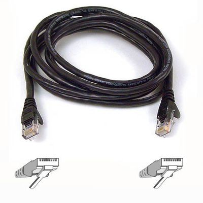 SNAGLESS CAT6 PATCH CABLE 4PRRJ45M/ M 15MS BLACK NS