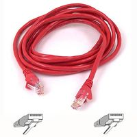 CAT 5 PATCH CABLE 2M MOULDED SNAGLESS RED NS
