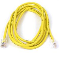 CAT 5 PATCH CABLE 15M SNAGLESS YELLOW NS