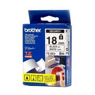 PTOUCH TAPE 3/4IN BLK/ WHT SECURITY